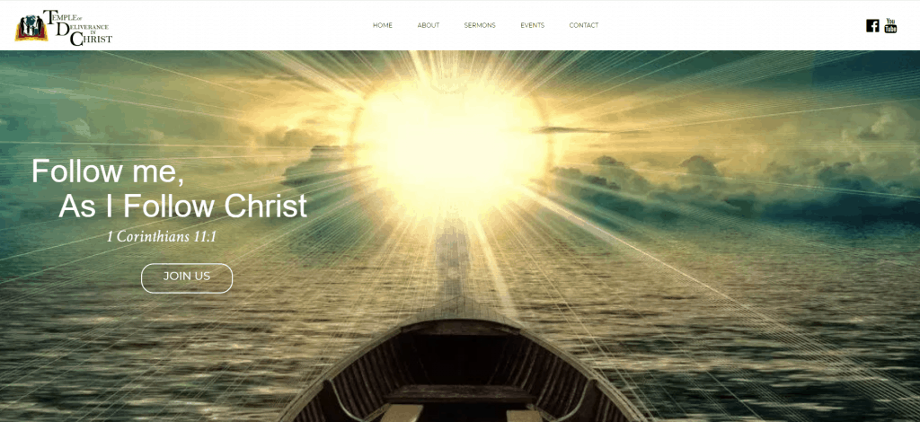 picture of the sun from a boat with a bible verse created by a web designer