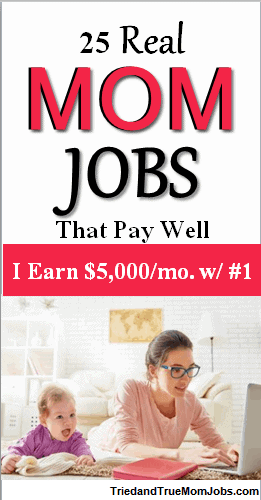 stay at home mom jobs poster