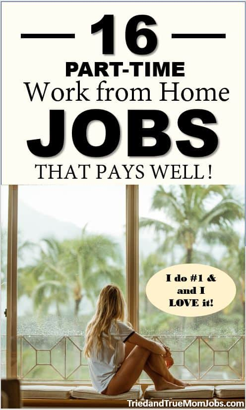 best part time legitimate work from home jobs