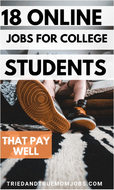 student on the couch looking for best online jobs for college students